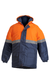 BeckZero Two tone Thermal Jacket with Hood and Storm Flap JHF2005