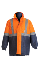 BeckZero Two tone Thermal Jacket with Collar and Storm Flap JCF2011