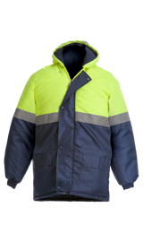 BeckZero Two tone Thermal Jacket with Hood and Storm Flap JCF2004