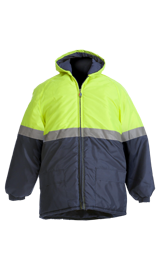 BeckZero Two tone Thermal Jacket with Hood JH2003